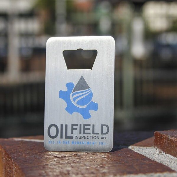 METAL BOTTLE OPENER BUSINESS CARD